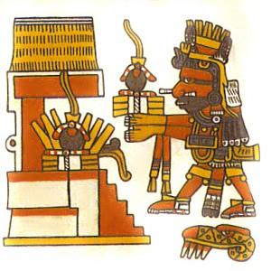 Xiuhtecuhtli,_Codex_Borgia,_14,_w_rubber_balls_offering