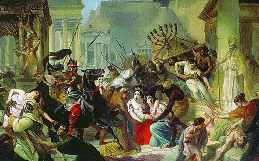The Sack Of Rome By Barbarians