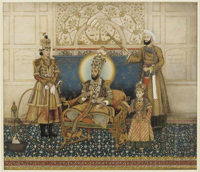 Ghulam_Ali_Khan,_Bahadur_Shah_II_enthroned_with_Mirza_Fakhruddin_1837–38_Arthur_M._Sackler_Gallery,_Smithsonian_Institution,_Washington