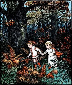 in_the_Wood_-_7_-_illustrated_by_Randolph_Caldecott_-_Project_Gutenberg_eText_19361 Enigmatic people