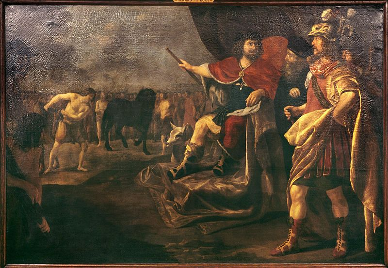 Gerard_van_Kuijl_-_Quintus_Sertorius_and_the_horse_tail_1638