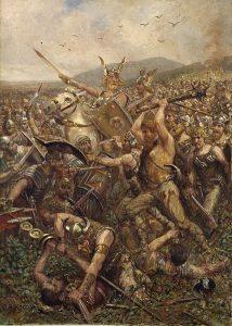 Otto_Albert_Koch_Varusschlacht_1909 roman battles