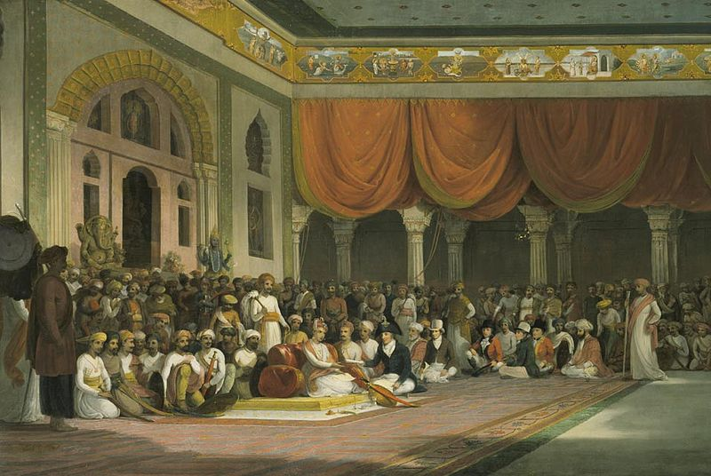 800px-Thomas_Daniell,_Sir_Charles_Warre_Malet,_Concluding_a_Treaty_in_1790_in_Durbar_with_the_Peshwa_of_the_Maratha_Empire