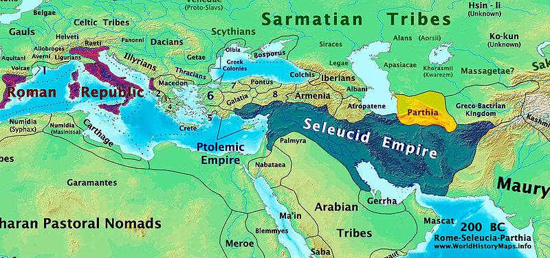 Rome-Seleucia-Parthia_200bc longest wars in history