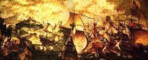 Sea Battles Senyeres-Invencible-Plymouth