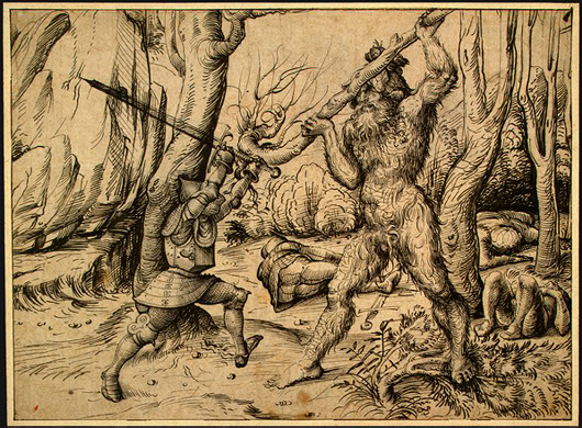 The_Fight_in_the_Forest_(Hans_Burgkmair_d._Ä.)