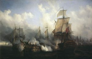 Sea battles Trafalgar-Auguste_Mayer