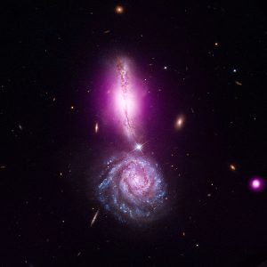 UGC_9618,_Chandra_+_Hubble Celestial Bodies