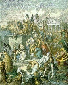 Germanic Tribes heinrich_leutemann_plunderung_roms_durch_die_vandalen_c-_1860-1880