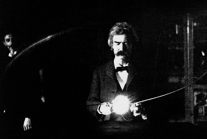 Twain_in_Tesla's_Lab Tesla's inventions