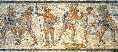 famous duels -gladiators_from_the_zliten_mosaic_3