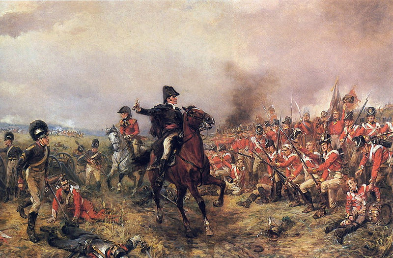 famous duels -wellington_at_waterloo_hillingford