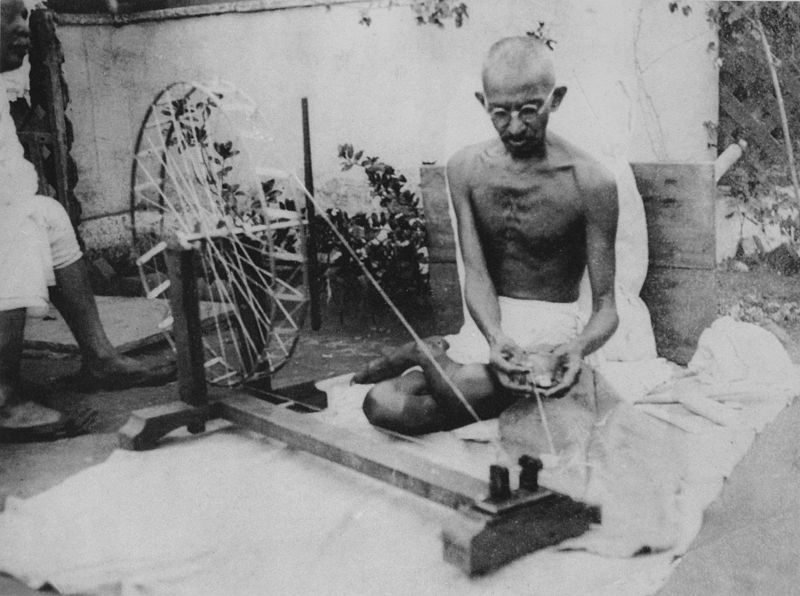 famous assassins gandhi_spinning
