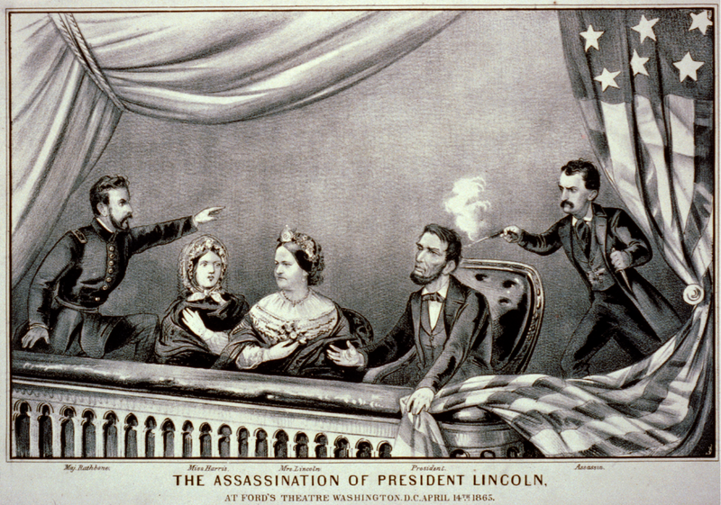 Famous assassins the_assassination_of_president_lincoln_-_currier_and_ives_2