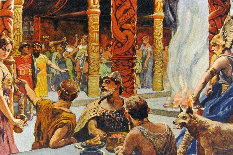 norse mythology walhall_by_emil_doepler