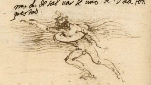 Leonardo da Vinci inventions -_Lifebelt_sketch