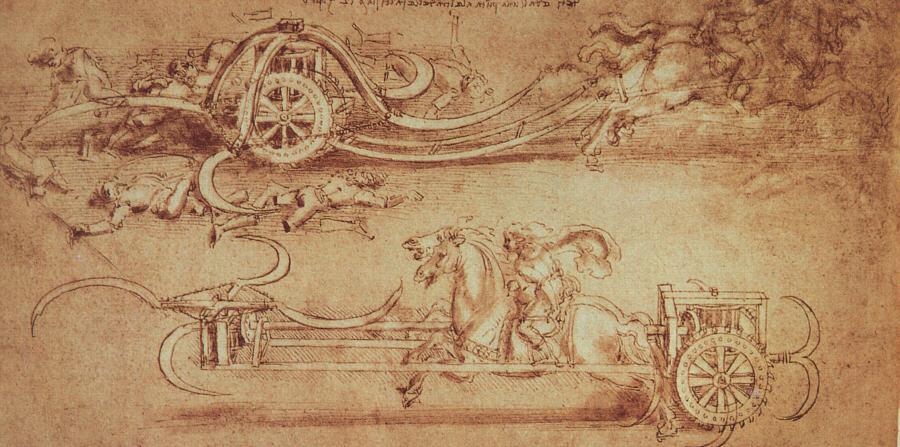 leonardo da vinci inventions Scythed_chariot_by_da_Vinci