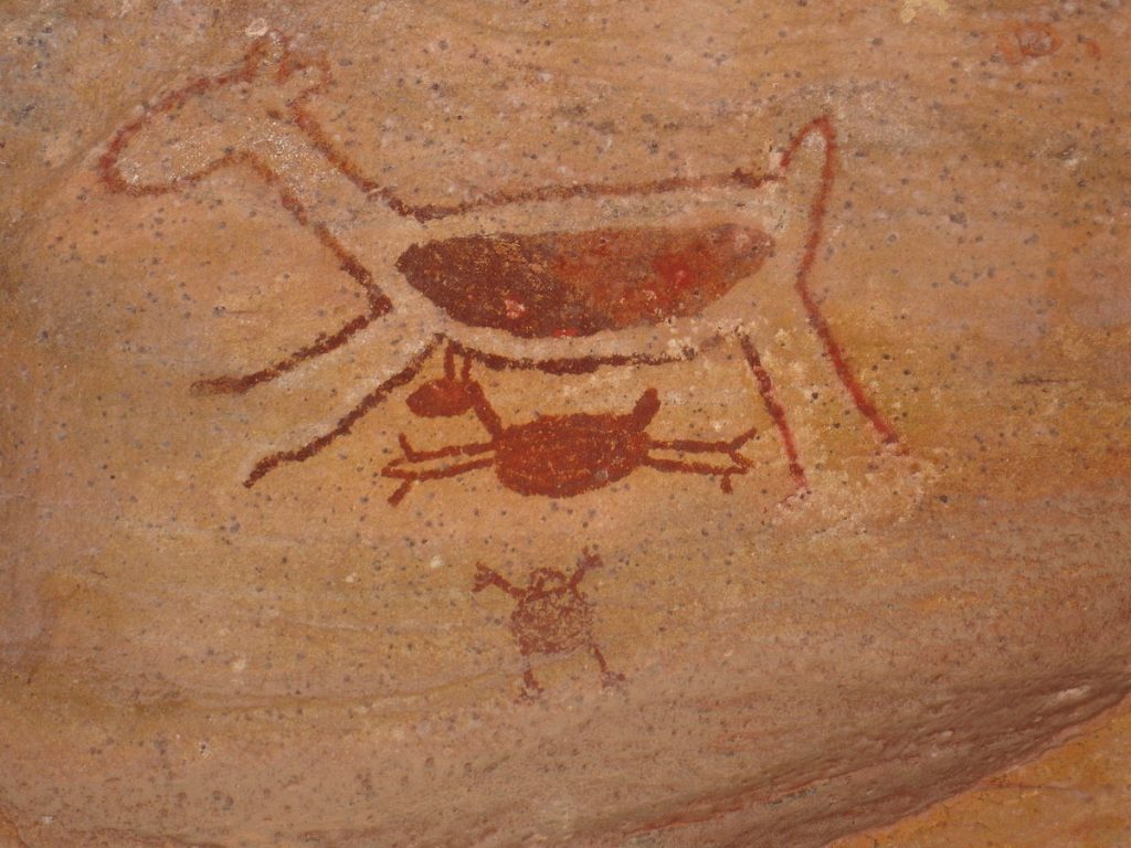 cave paintings 1200px-Serra_da_Capivara_-_Painting_7