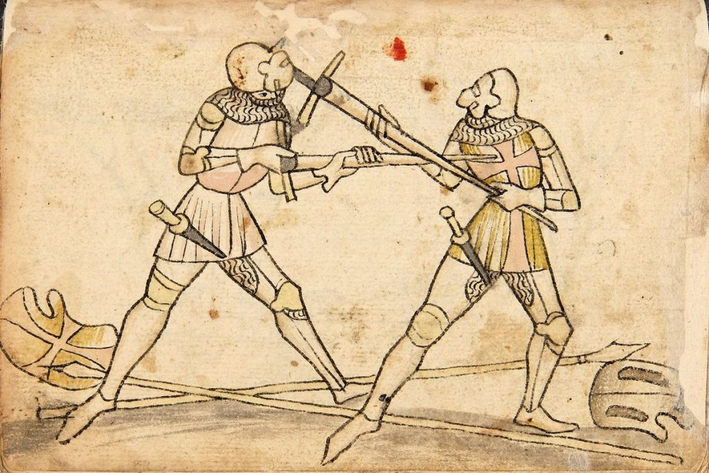 medieval weapons Augsburg_Cod.I.6.4º.2_(Codex_Wallerstein)_107v