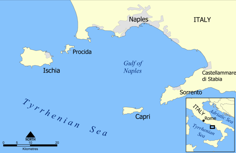 caligula Capri_and_Ischia_map