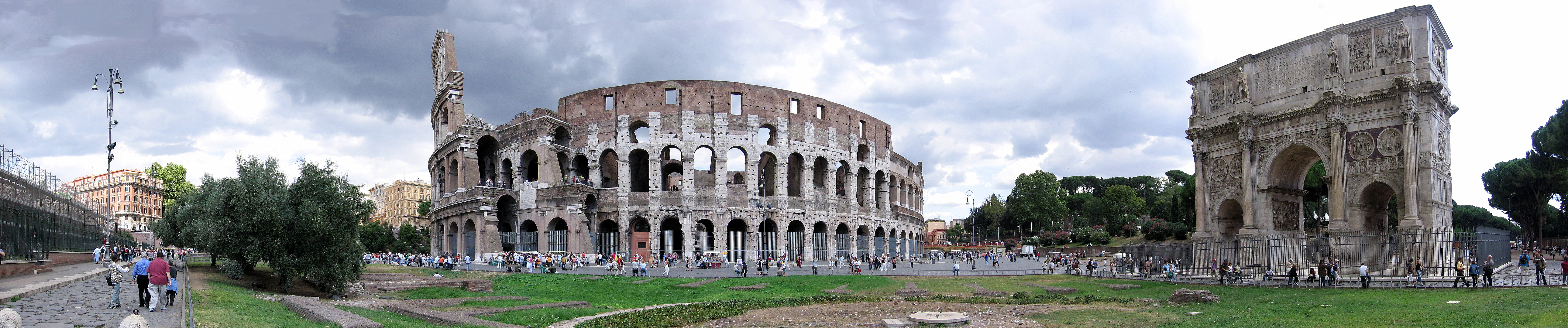 golden ages Colosseum-panoramic.view