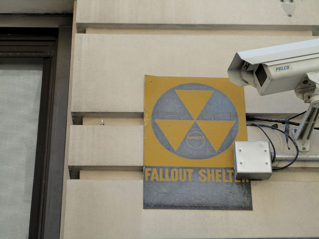 nuclear bomb effects Fallout_shelter_sign_on_a_building
