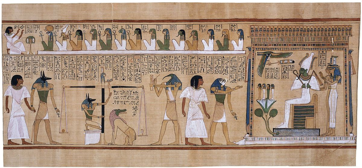 egyptian mythology The_judgement_of_the_dead_in_the_presence_of_Osiris