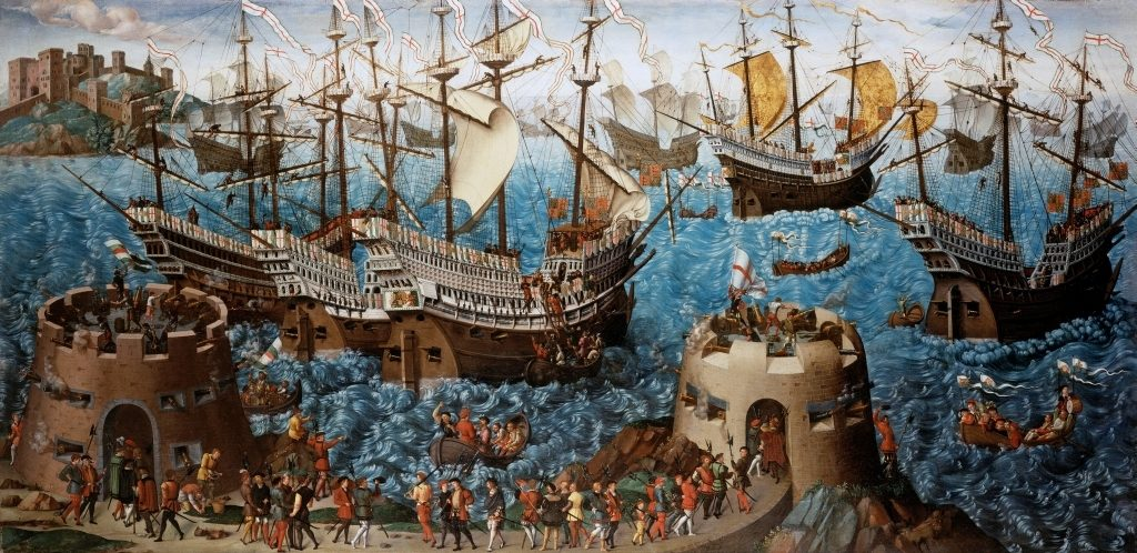 english kings Basire_Embarkation_of_Henry_VIII