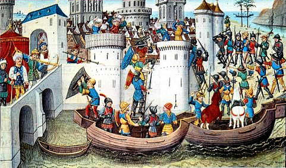 the crusades ConquestOfConstantinopleByTheCrusadersIn1204
