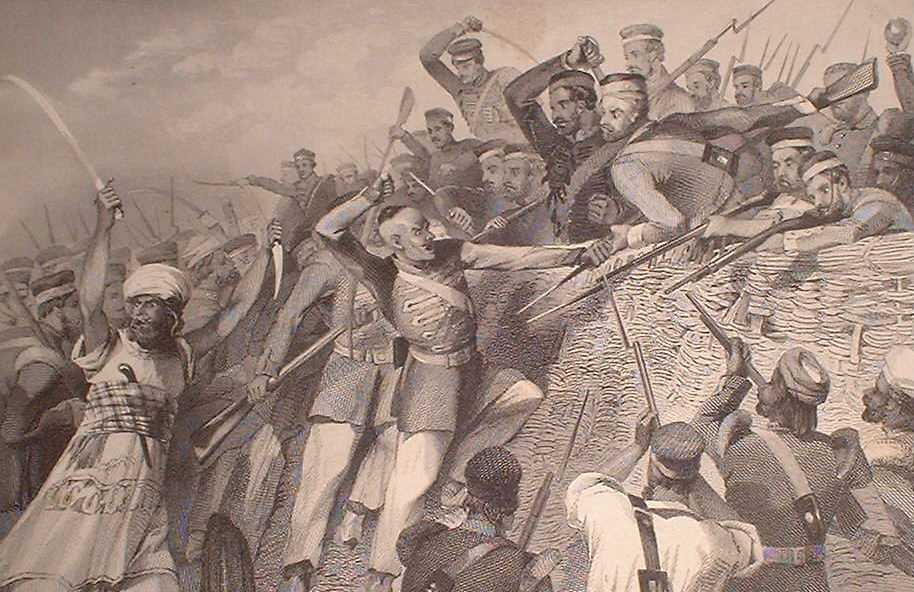 victorian age-Attack_of_the_Mutineers_on_the_Redan_Battery_at_Lucknow,_July_30th,_1857,