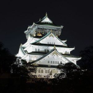 Osaka_Castle_at_Night,_November_2016