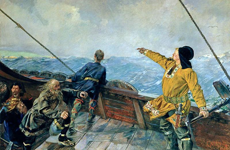 Viking Voyages Christian-krohg-leiv-eriksson