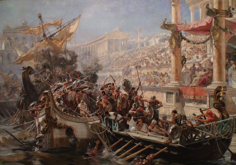 800px-La_naumaquia-Ulpiano_Checa Roman Empire
