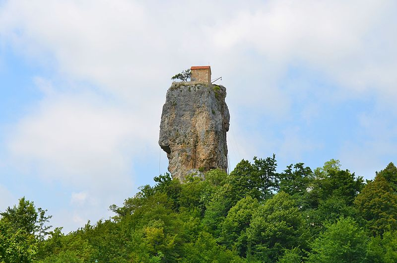 Most dangerous homes: Katskhi pillar