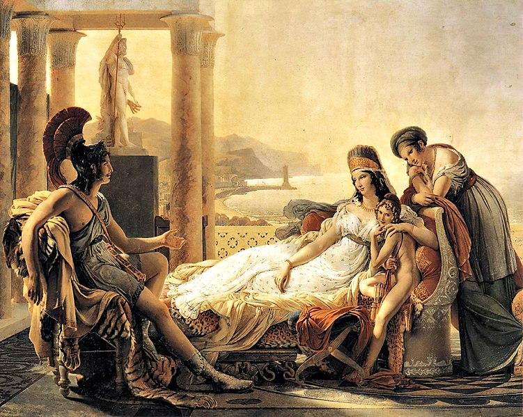 Dido lies down, giving advice to future Carthaginian leaders