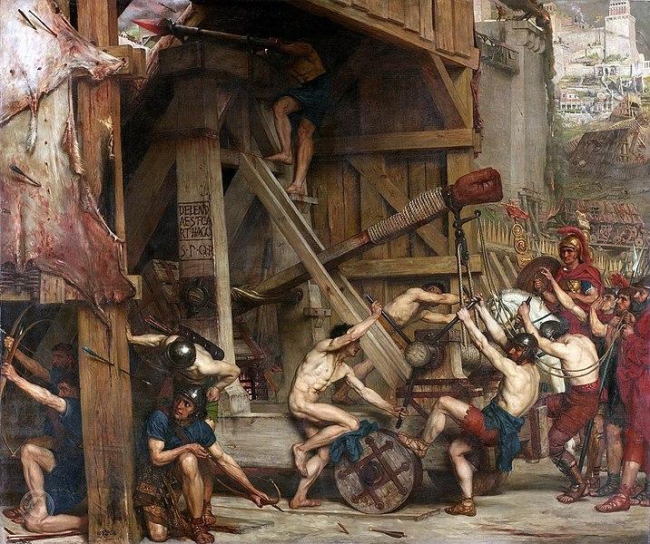 Carthaginian leaders are besieging a city gate