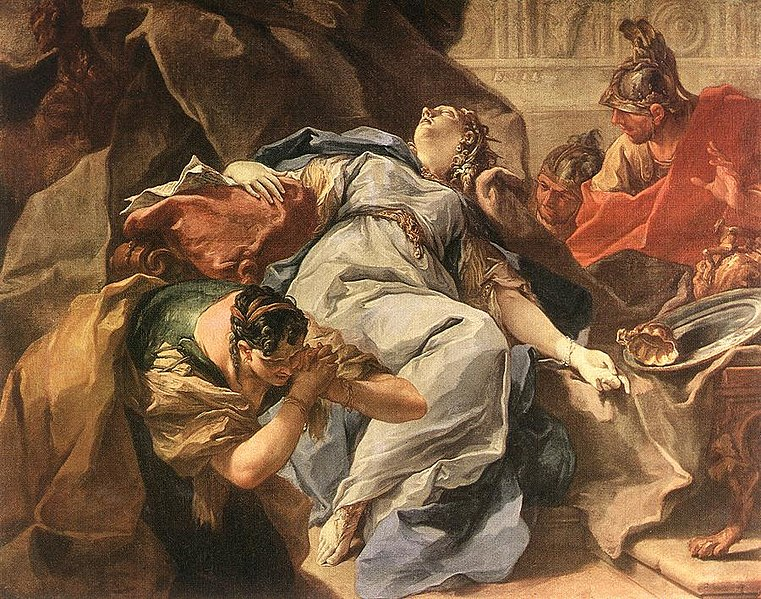 Sophonisba at her death, mourned by those around her